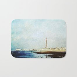 On The Front Textured Fine Art Photograpy Bath Mat