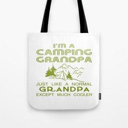 Camping Grandpa Tote Bag
