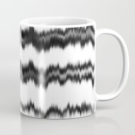 Black+White Soundwaves Coffee Mug