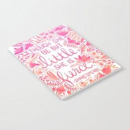 Little & Fierce – Pink Ombré Notebook
