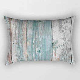 Old wood vintage background Rectangular Pillow