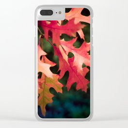 Reddish autumn leaves Clear iPhone Case
