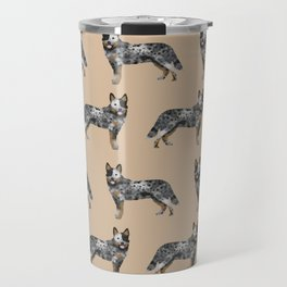 Australian Cattle dog must have gifts for cattle dog owners dog breed pet friendly unique dog art Travel Mug