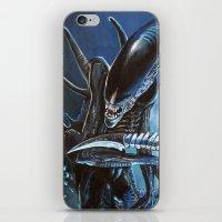 alien iPhone & iPod Skins featuring Alien by Tom C Carlton