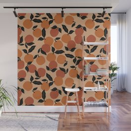 Seamless Citrus Pattern / Oranges Wall Mural