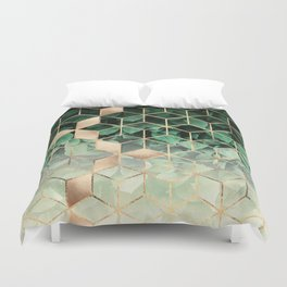Leaves And Cubes Duvet Cover
