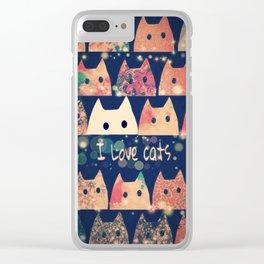 cat-213 Clear iPhone Case