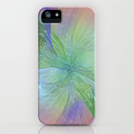 Mystic Warmth Abstract Fractal iPhone Case