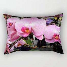 Pink Orchids Rectangular Pillow