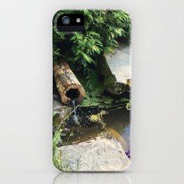 Kubota Garden pond with log iPhone Case
