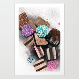 GCD Chocolat Candi Illustration  Art Print