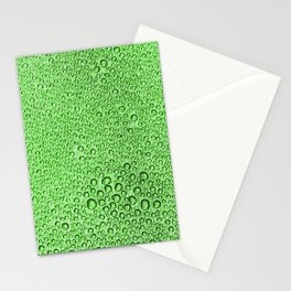 Water Condensation 05 Green Stationery Cards