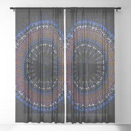 Zen tangle Mandala Sheer Curtain
