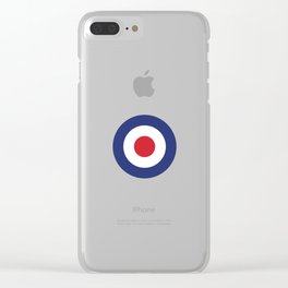 Roundel British Bullseye War Plane Target Icon MOD 60s Britain Clear iPhone Case