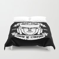 transformer Duvet Covers featuring Legend Of Cybertron - Ratchet by Vitalitee