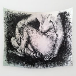Seated Nude Wall Tapestry