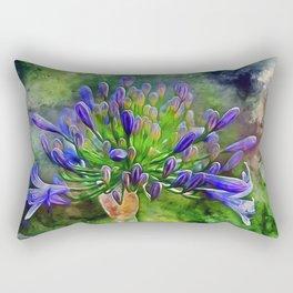 Agapanthus Flower Rectangular Pillow