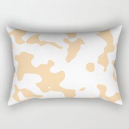 Large Spots - White and Sunset Orange Rectangular Pillow