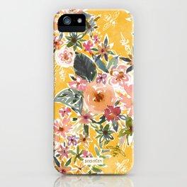 AMELIA JANE'S GARDEN Golden Floral iPhone Case