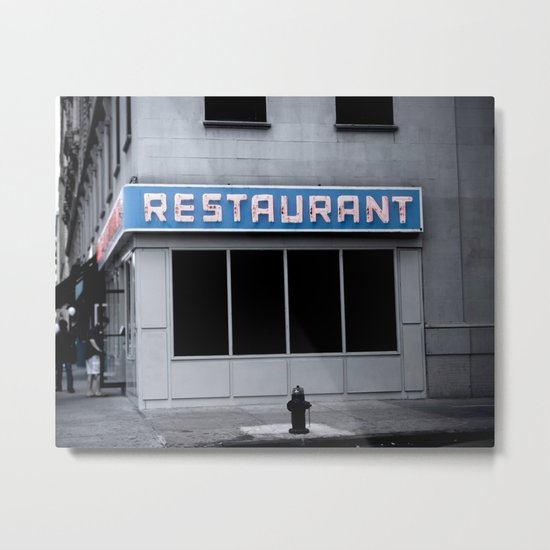 The [Seinfeld] Diner Metal Print