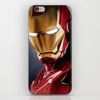 ironman iPhone & iPod Skins featuring IronMan by San Fernandez