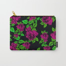 ROSES ROSES PINK AND GREEN Carry-All Pouch