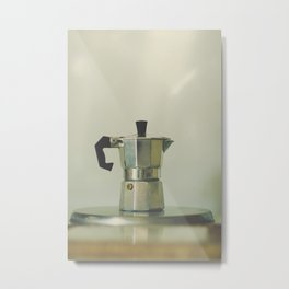 Italian moka pot. Metal Print