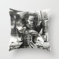 aragorn Throw Pillows featuring Aragorn by Juan Pablo Cortes