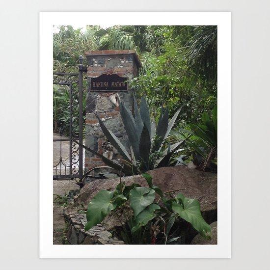 Hakuna Matata, Tropical Gateway Art Print