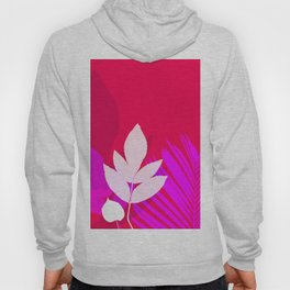 Leaves silhouette in pink and red  Jungle Brazil Hoody