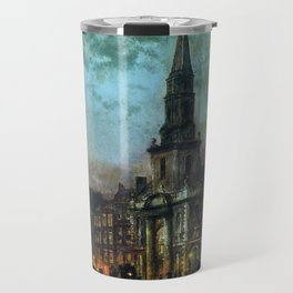John Atkinson Grimshaw Blackman Street, London Travel Mug