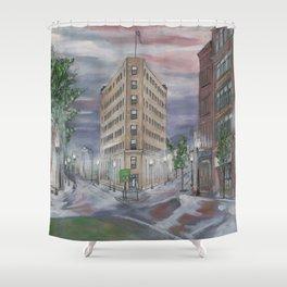 Lynn at First Light Cityscape Shower Curtain