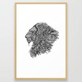 Ah Tabai - Aztec lion Framed Art Print