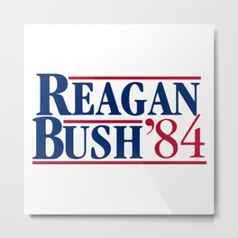 reagan bush 84 Metal Print