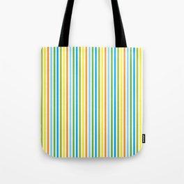 Colourful Pinstripes Tote Bag