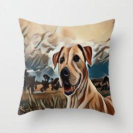 The Rhodesian Ridgeback Throw Pillow