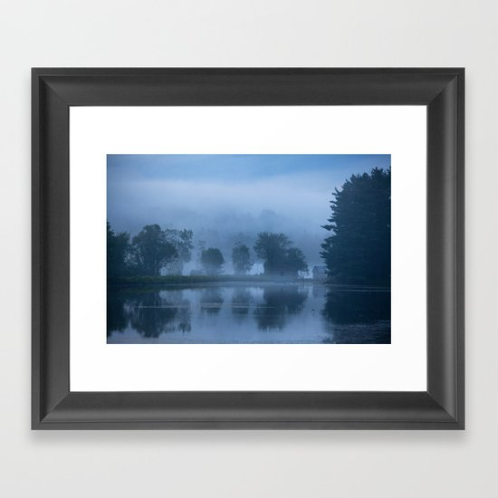 Peaceful Blue Framed Art Print