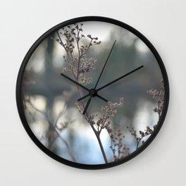 Winter Cow Parsley, Fine Art Photographic Print. Home Decor Wall Clock