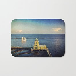Biloxi Schooner and Lighthouse Bath Mat