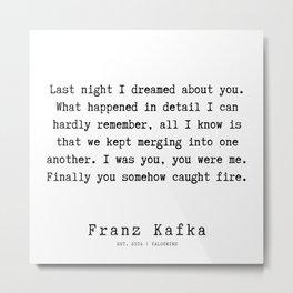 59   | Franz Kafka Quotes | 190910 Metal Print