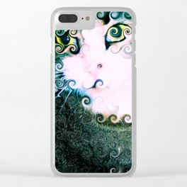 Cat Abstract Clear iPhone Case