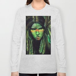 Green Girl Long Sleeve T-shirt