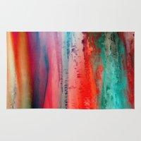 lindsay lohan Area & Throw Rugs featuring Ice Curtain by Klara Acel
