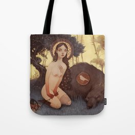 Little Red Cap  Tote Bag