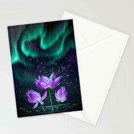 Emerald Embers Stationery Cards