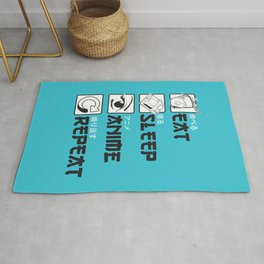 Eat Sleep Anime Rug
