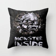 Monster Inside Throw Pillow