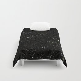 Universe Space Stars Planets Galaxy Black and White Comforters