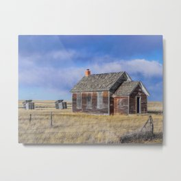 School, Pleasant View, Montana Metal Print