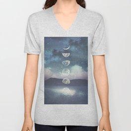 Rising Moon Unisex V-Neck